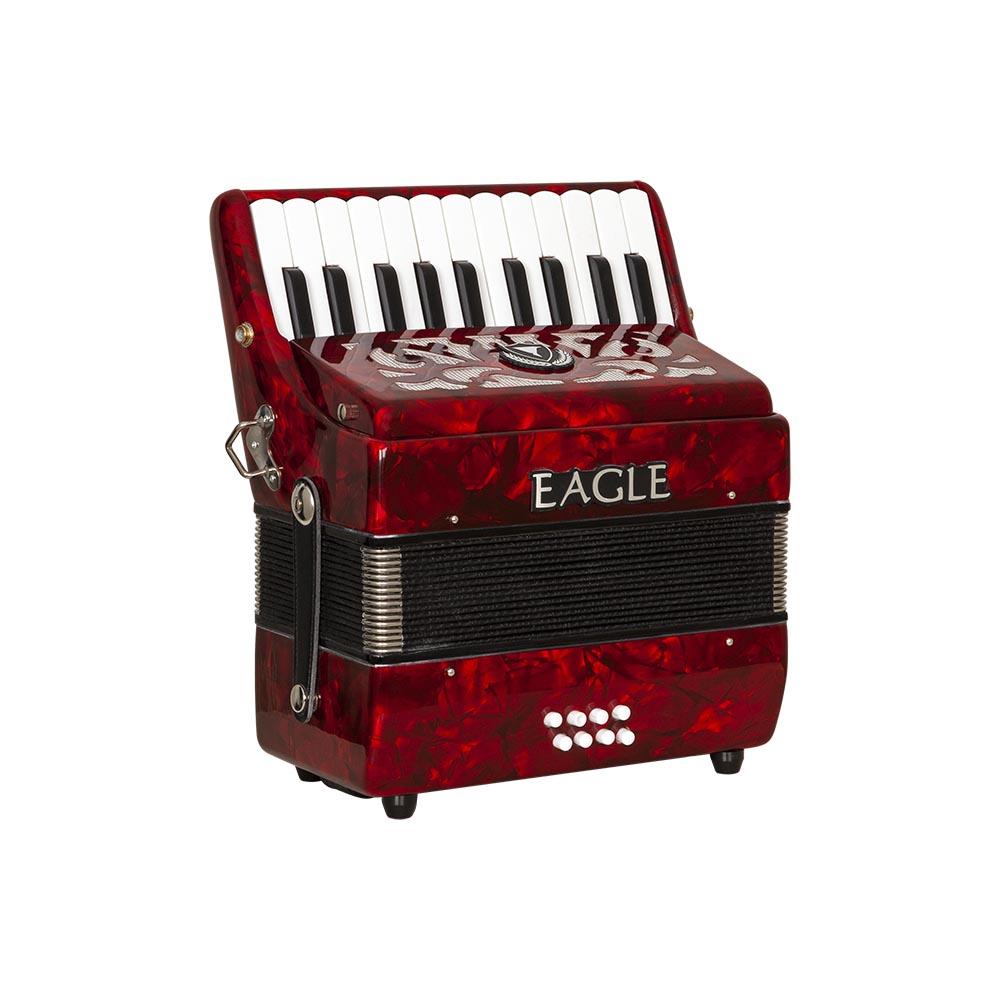 acordeom 8 baixos eagle ega8b prd vermelho perolizado frontal copy