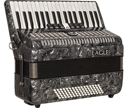acordeom 80 baixos 7 registros eagle ega0780 pbk preto perolizado frontal