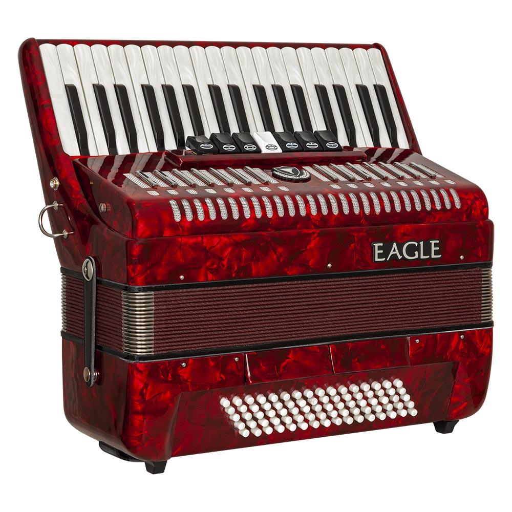 acordeom 80 baixos 7 registros eagle ega0780 prd vermelho perolizado frontal 1