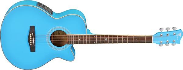 ch10 violao folk mini jumbo eletroacustico eagle ch10 sbl azul 600