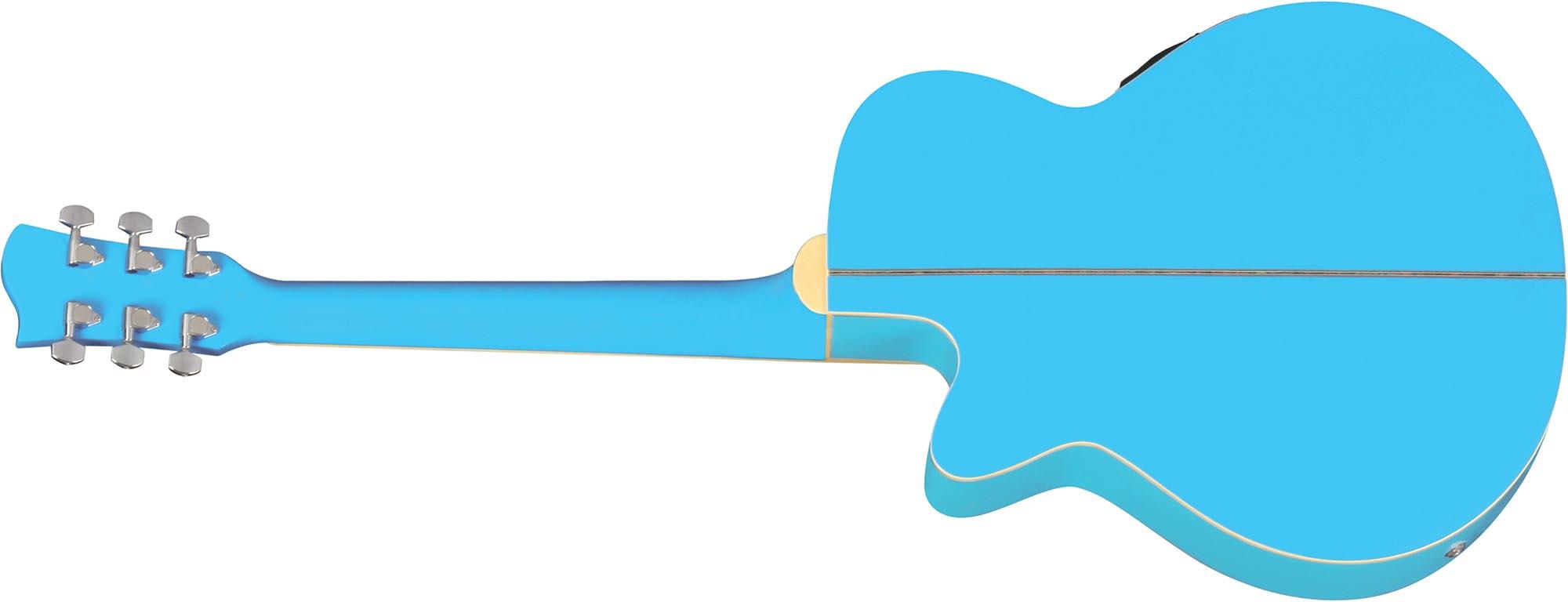 ch10 violao folk mini jumbo eletroacustico eagle pro series ch10 sbl azul visao posterior