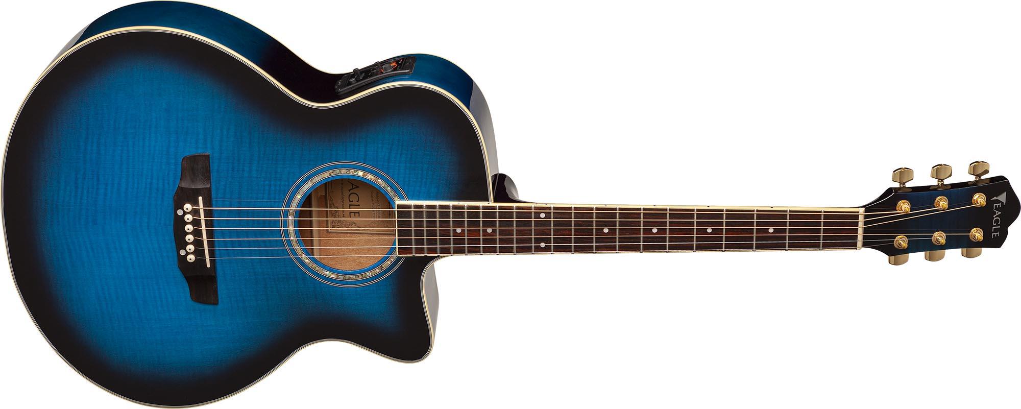 ch70f violao folk jumbo eagle pro series ch70f blb azul visao frontal