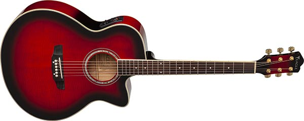 ch70f violao folk jumbo eagle pro series ch70f rb vermelho visao frontal listagem