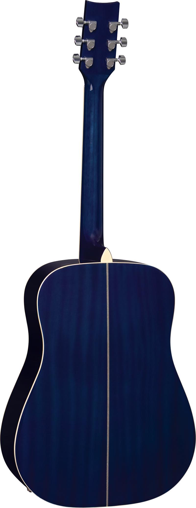 ch887 violao folk dreadnought eagle ch887 bls azul sunburst visao posterior vertical