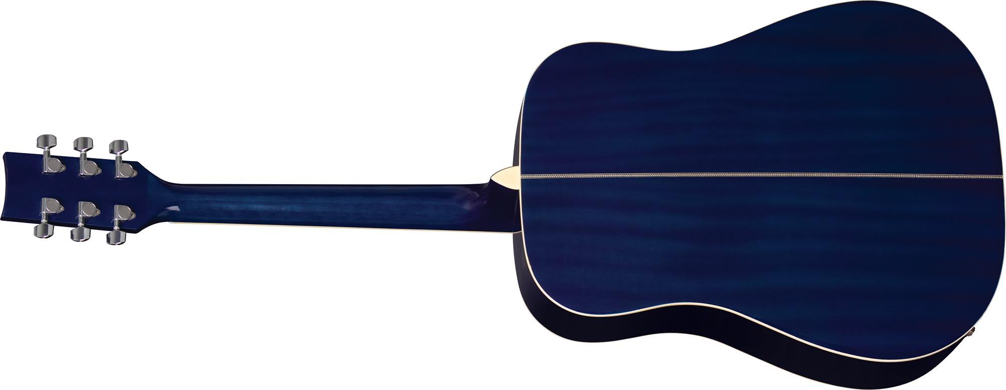 ch887 violao folk dreadnought eagle pro series ch887 bls azul sunburst visao posterior