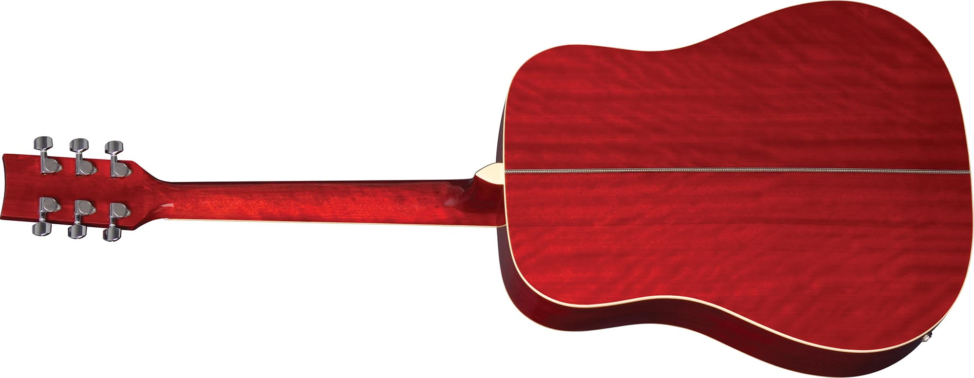 ch887 violao folk dreadnought eagle pro series ch887 rds vermelho sunburst visao posterior
