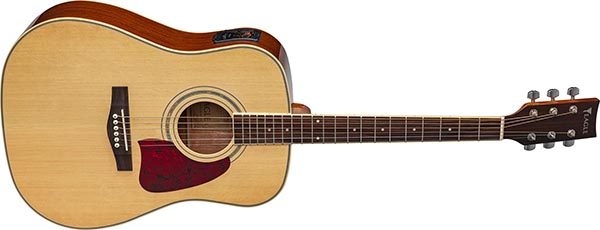 ch888 violao folk dreadnought eletroacustico eagle pro series ch888 nt natural frontal listagem