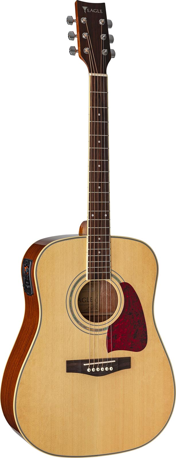 ch888 violao folk dreadnought eletroacustico eagle pro series ch888 nt natural frontal mobile