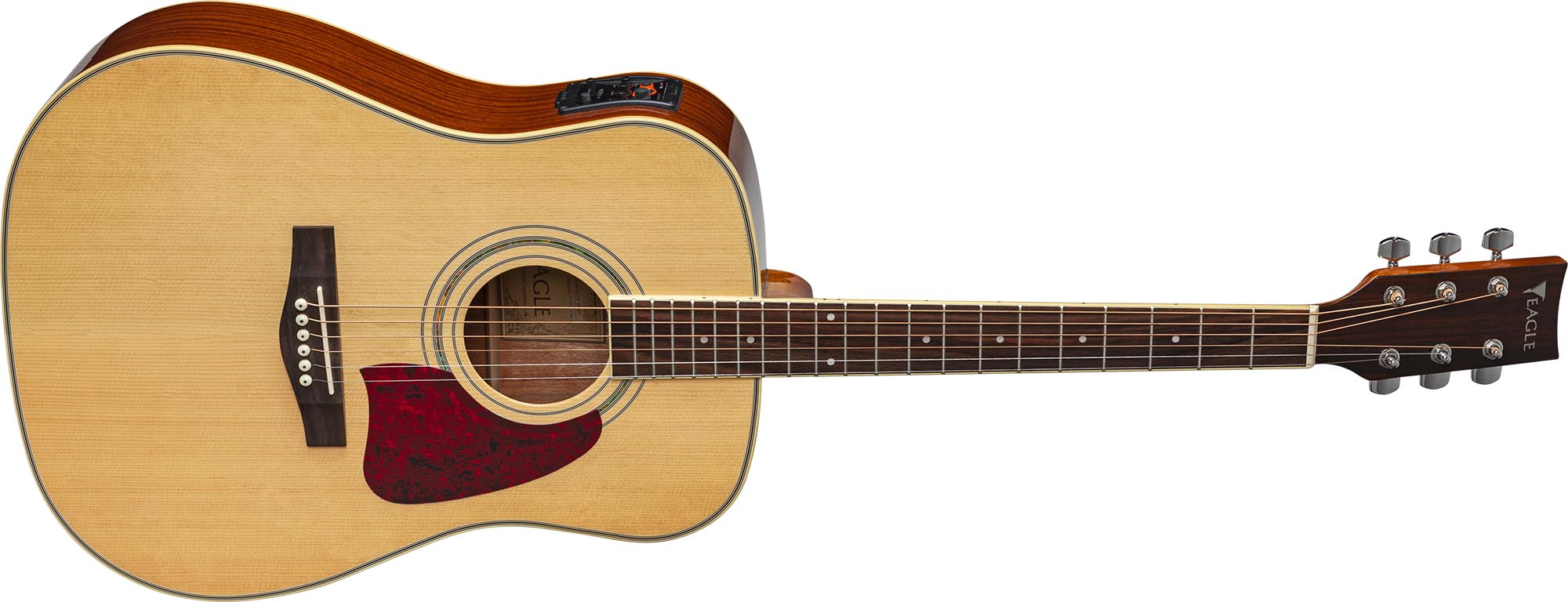 ch888 violao folk dreadnought eletroacustico eagle pro series ch888 nt natural frontal