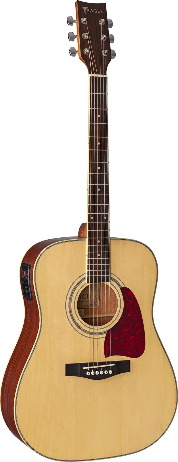 ch888 violao folk dreadnought eletroacustico eagle pro series ch888 stnt natural acetinado frontal mobile