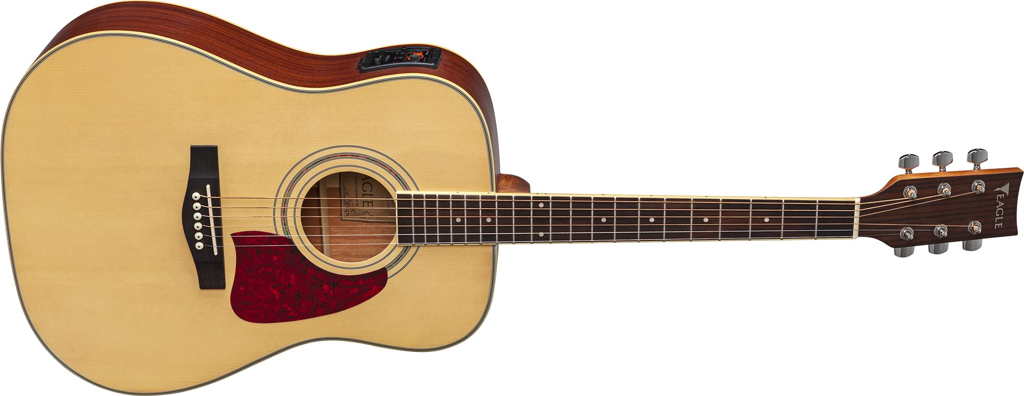 ch888 violao folk dreadnought eletroacustico eagle pro series ch888 stnt natural acetinado frontal