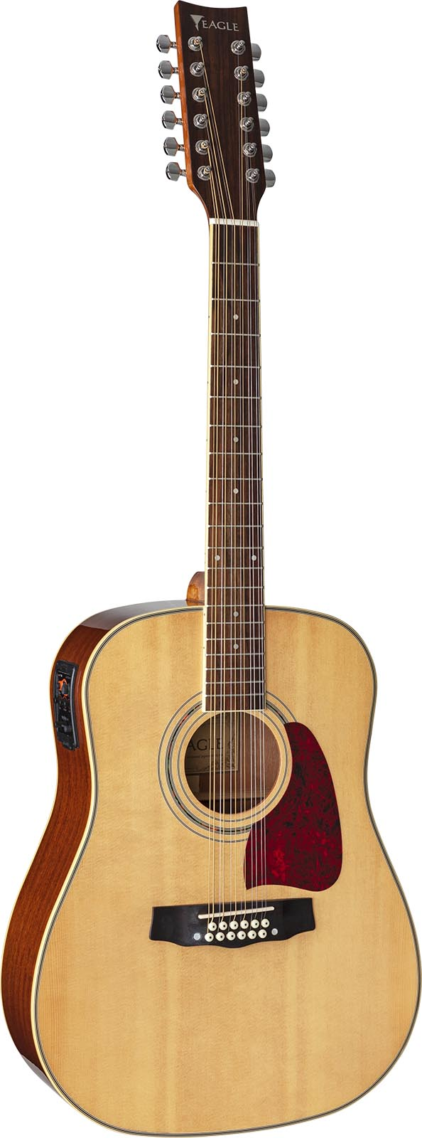 ch888e12 violao 12 cordas folk dreadnought eletroacustico eagle pro series ch888e12 nt natural frontal mobile