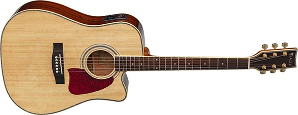 ch889 violao folk dreadnought eletroacustico eagle pro series ch889 nt natural frontal listagem