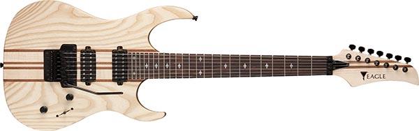 egt66 guitarra eletrica 7 cordas eagle egt66 stnt natural acetinado 600