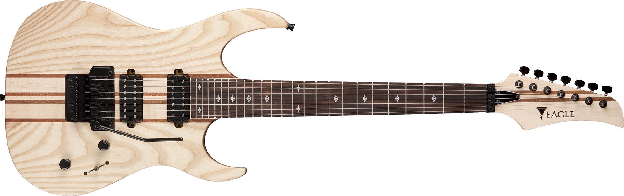 egt66 guitarra eletrica 7 cordas eagle egt66 stnt natural acetinado visao frontal