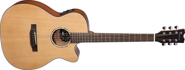 ema663 violao folk dreadnought tampo solido eagle ema663 600