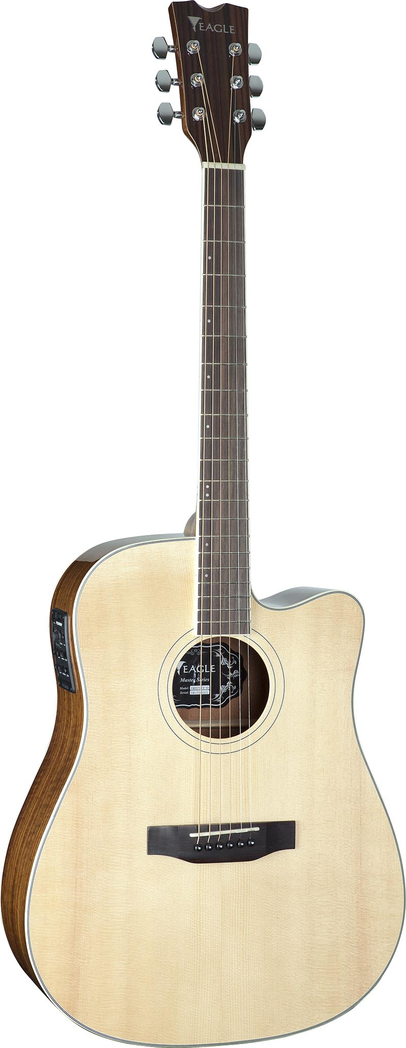 emd270ce violao folk dreadnought tampo solido eagle emd270ce nt natural visao frontal vertical
