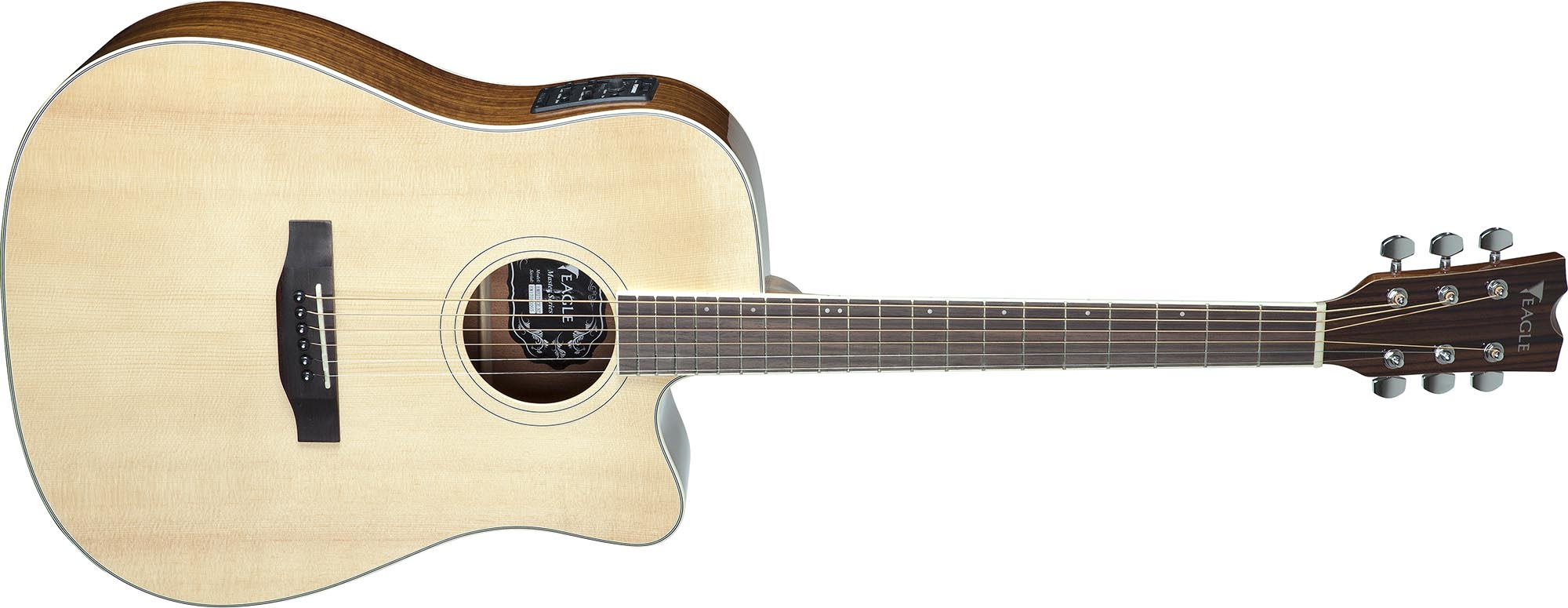 emd270ce violao folk dreadnought tampo solido eagle emd270ce nt natural visao frontal