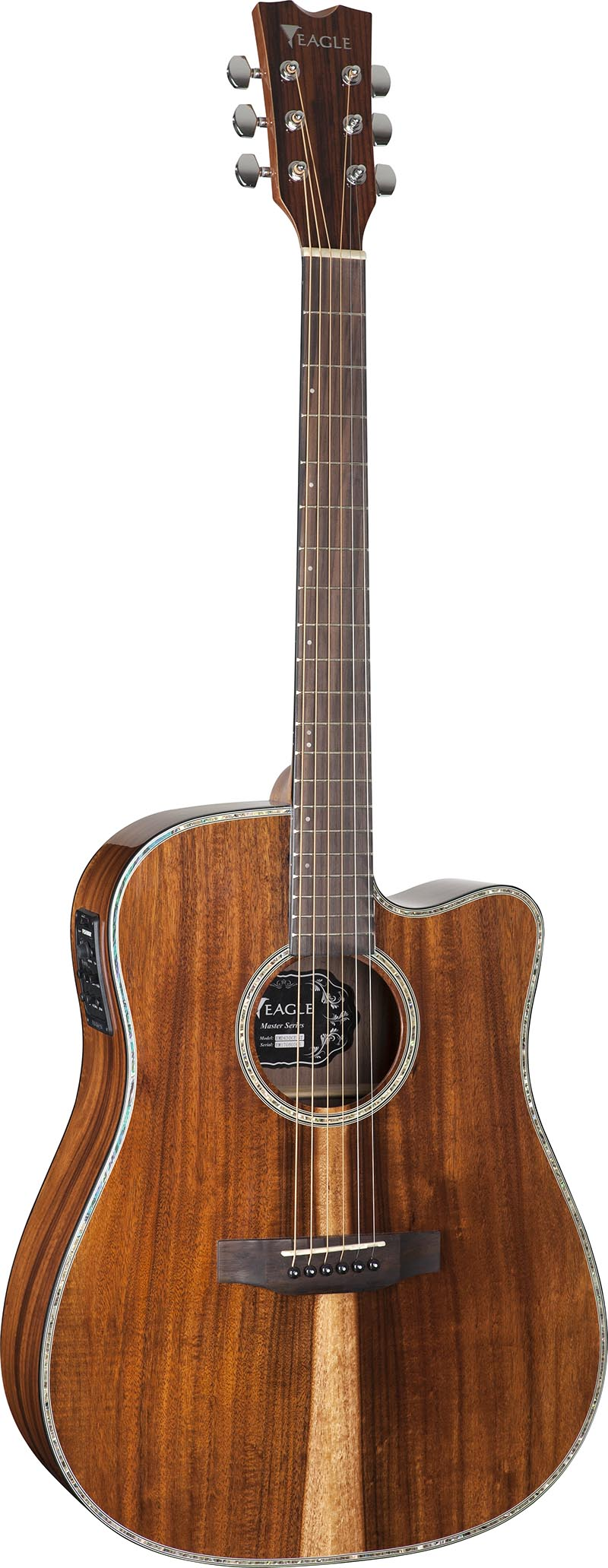 emd430ce violao folk dreadnought tampo solido eagle emd430ce nt natural visao frontal vertical
