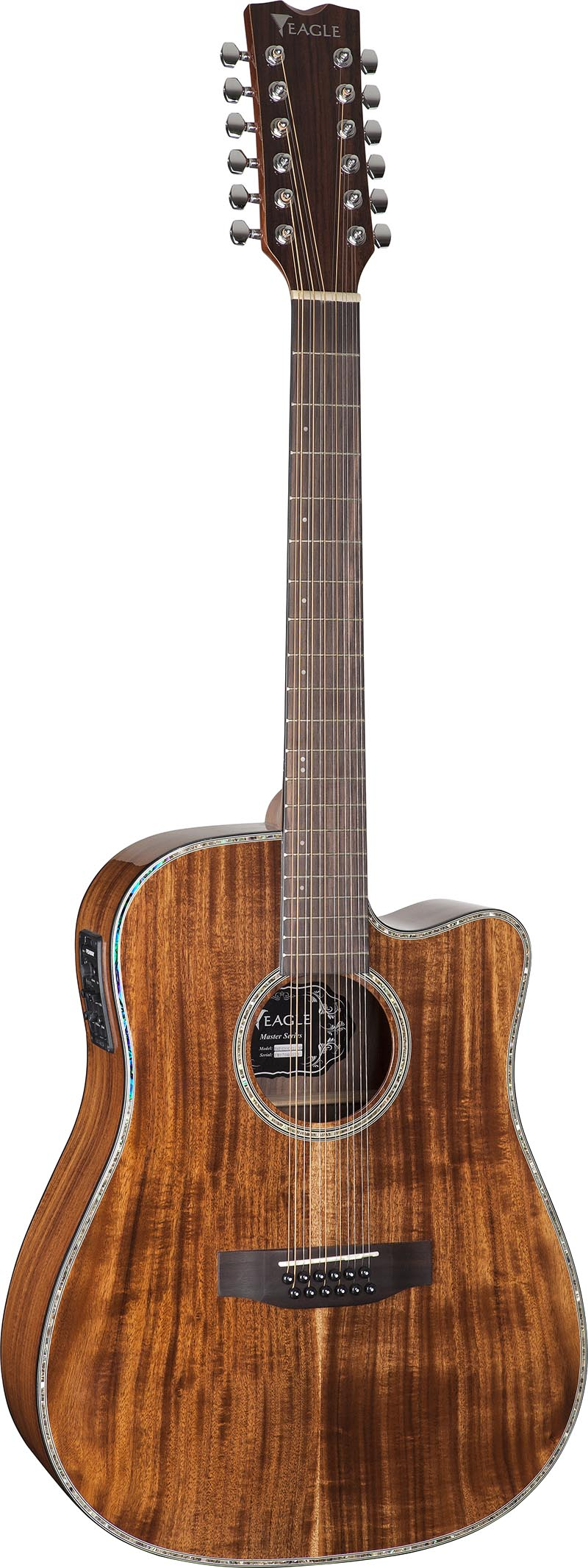emd430ce12 violao 12 cordas folk dreadnought tampo solido eagle emd430ce12 nt natural visao frontal vertical