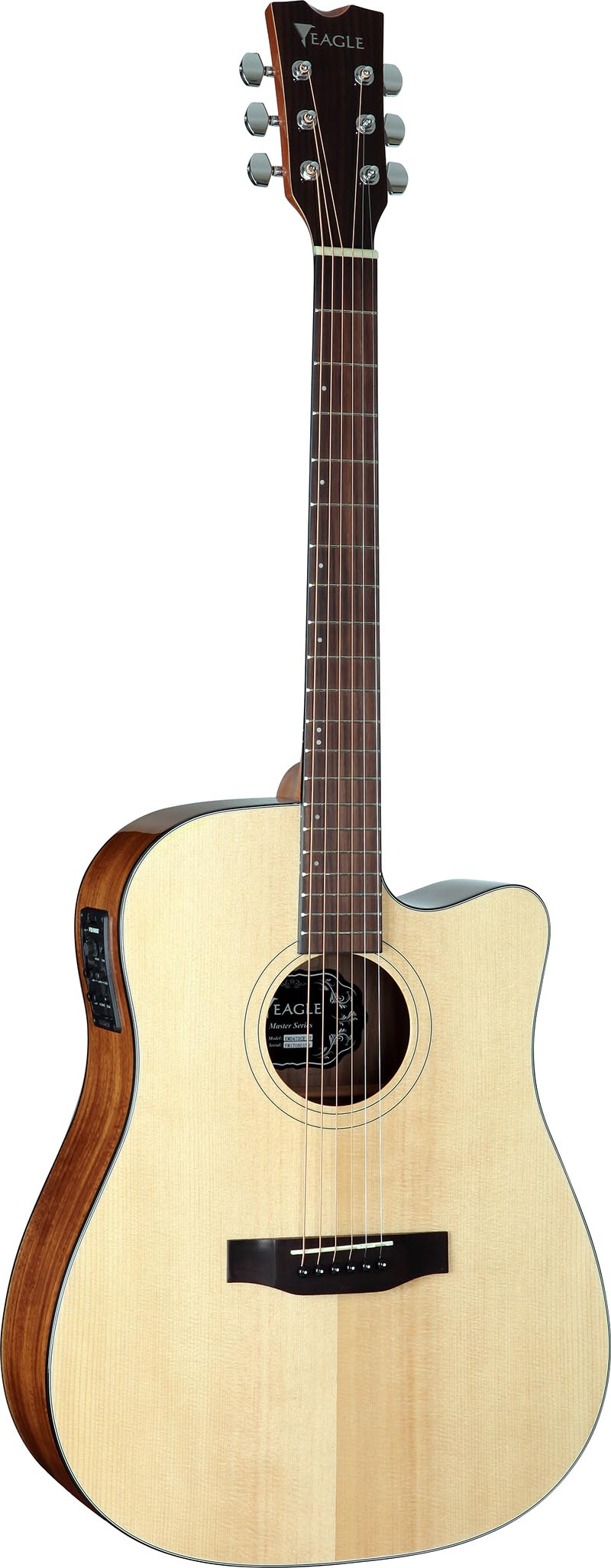 emd470ce violao folk dreadnought tampo solido eagle emd470ce nt natural visao frontal vertical