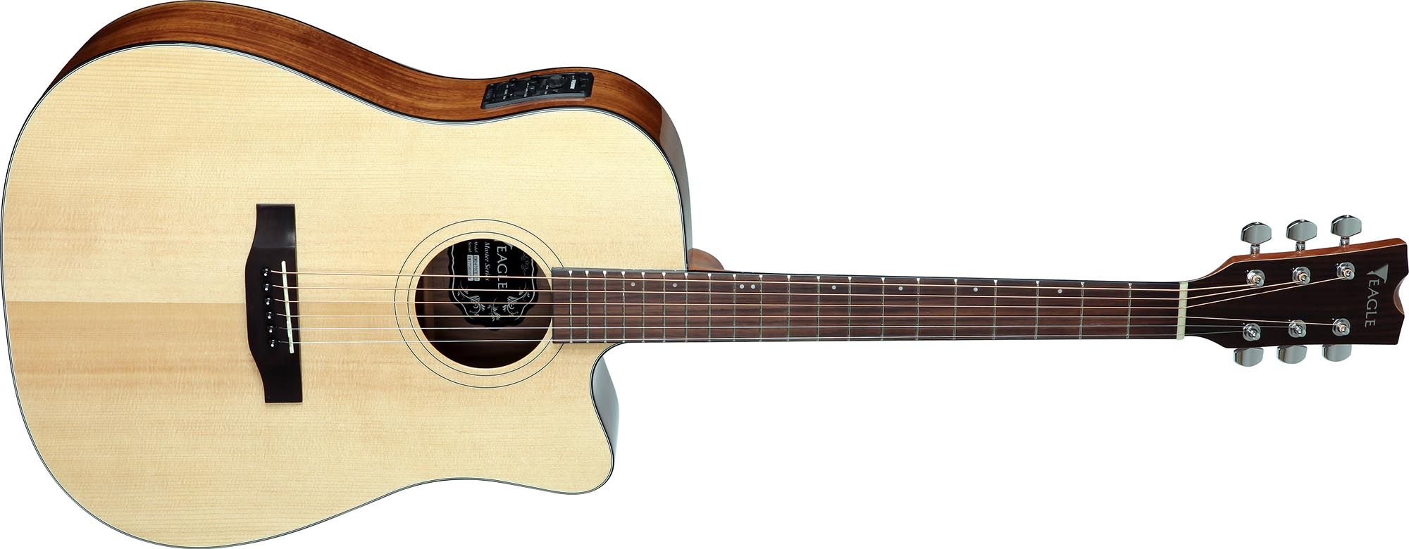 emd470ce violao folk dreadnought tampo solido eagle emd470ce nt natural visao frontal