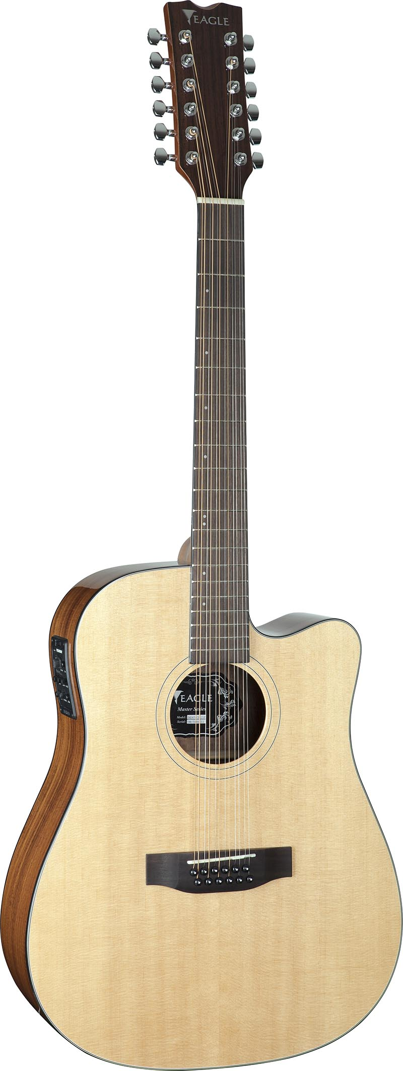 emd470ce12 violao folk dreadnought tampo solido eagle emd470ce12 nt natural visao frontal vertical