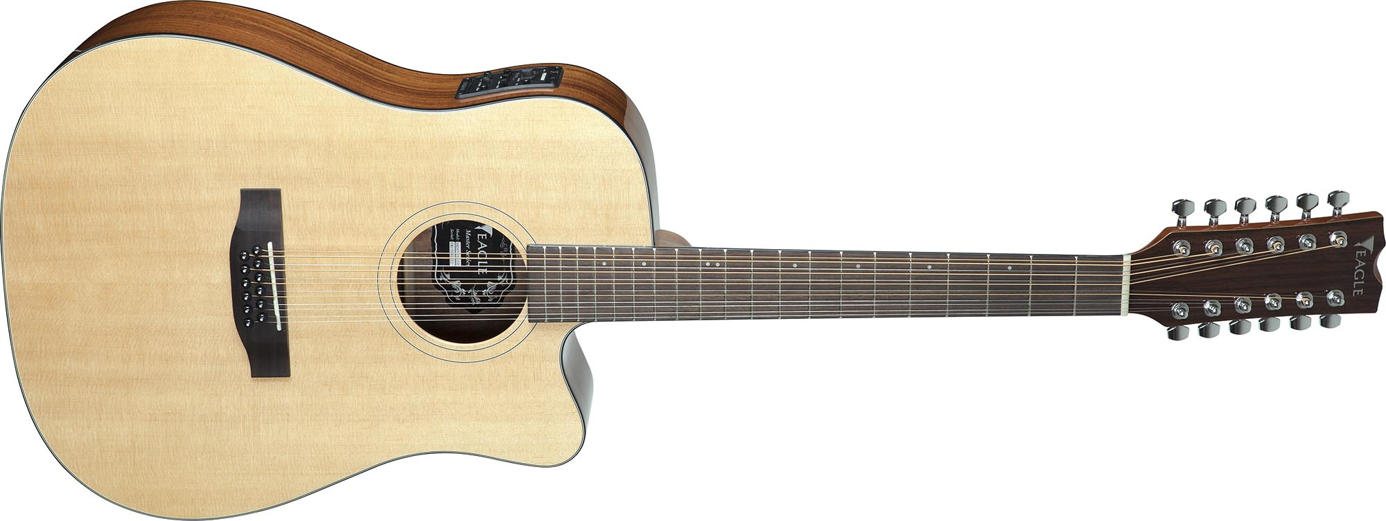 emd470ce12 violao folk dreadnought tampo solido eagle emd470ce12 nt natural visao frontal