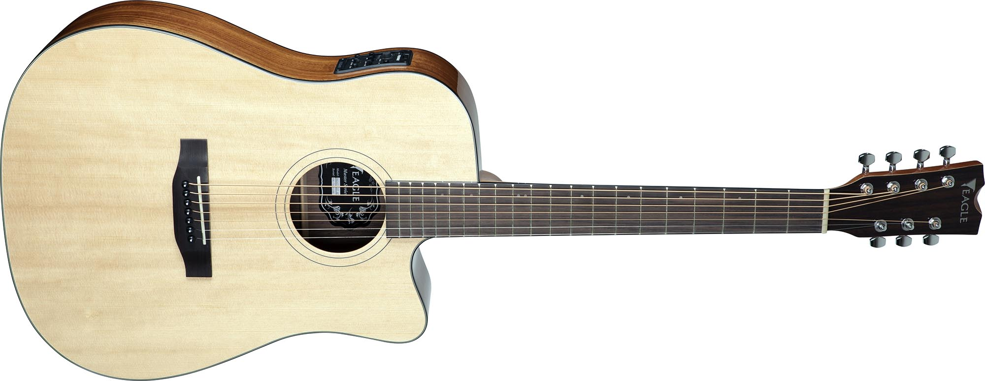 emd477ce7 violao 7 cordas folk dreadnought tampo solido eagle emd477ce7 nt natural visao frontal