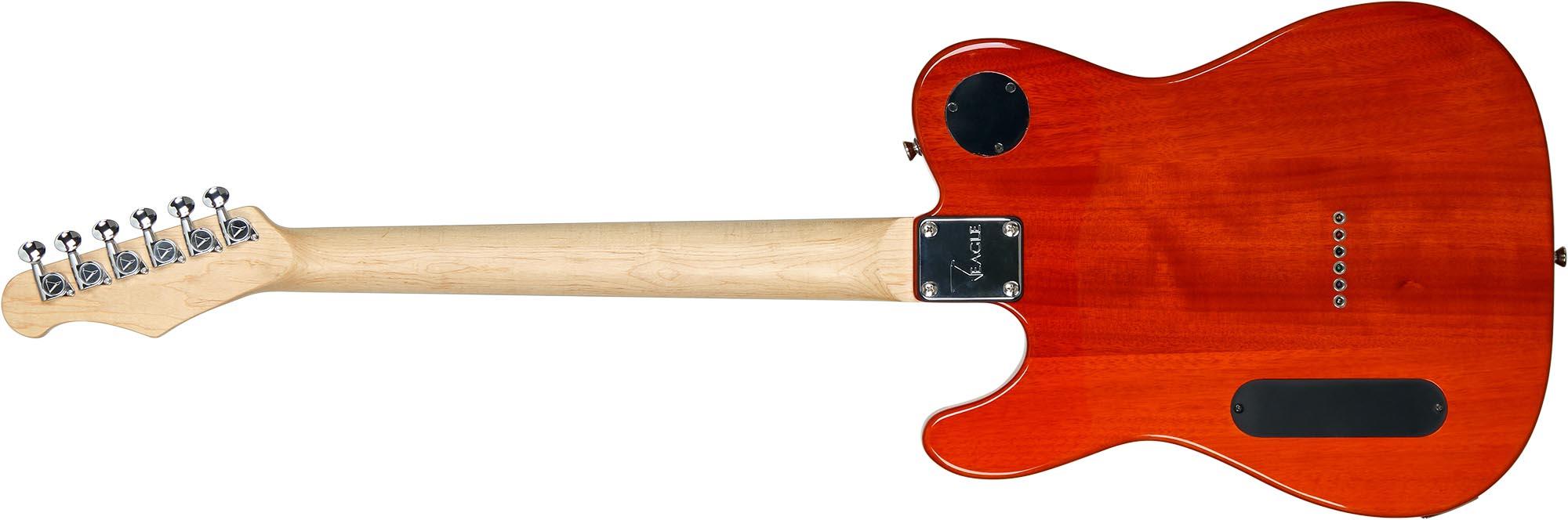 etl003 guitarra telecaster captador humbucker eagle etl003 visao posterior