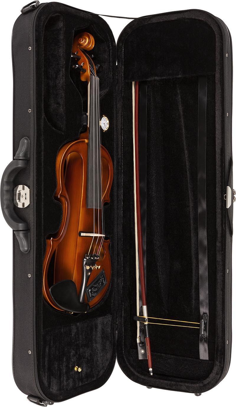 ev744 violino eagle ev744 estojo aberto vertical