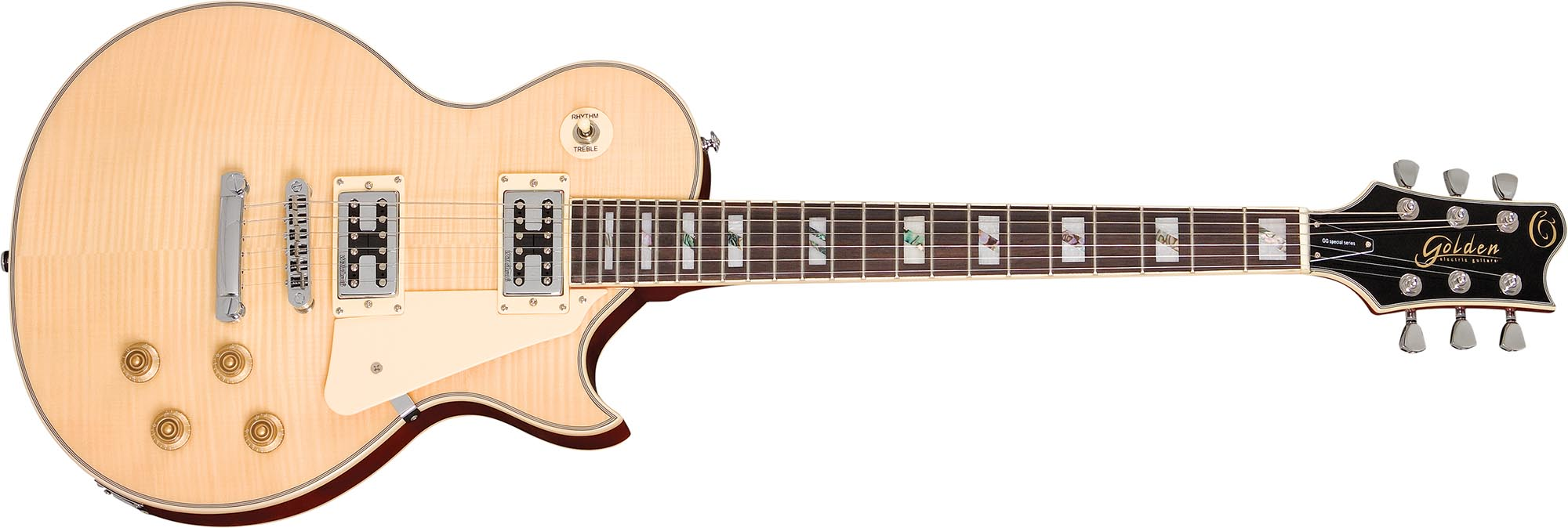 ggs500c guitarra lespaul tampo maple golden ggs500c visao frontal