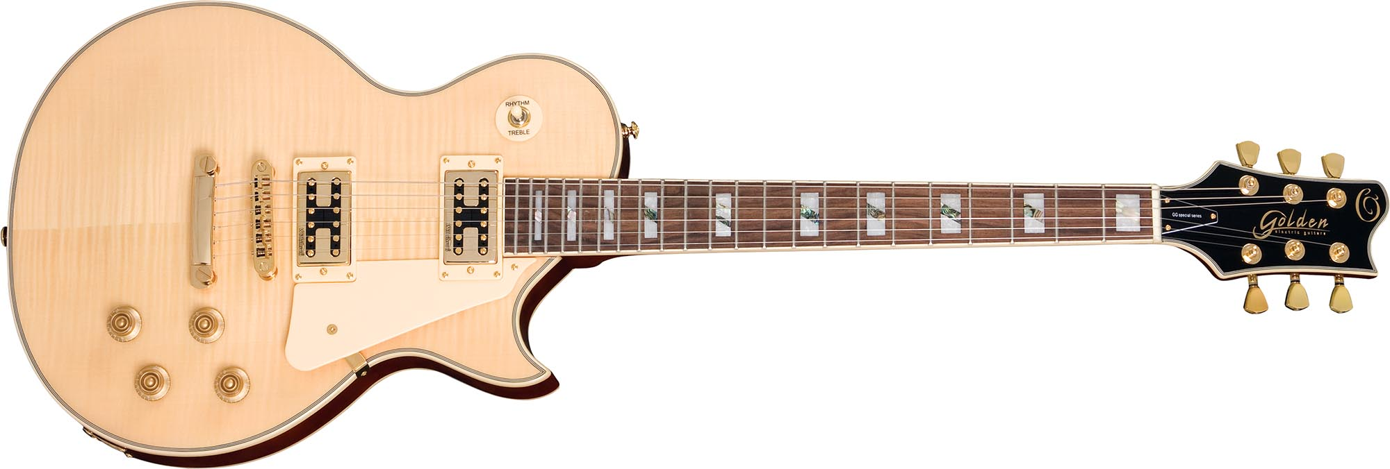 ggs500g guitarra eletrica les paul tampo maple golden ggs500g nt natural visao frontal