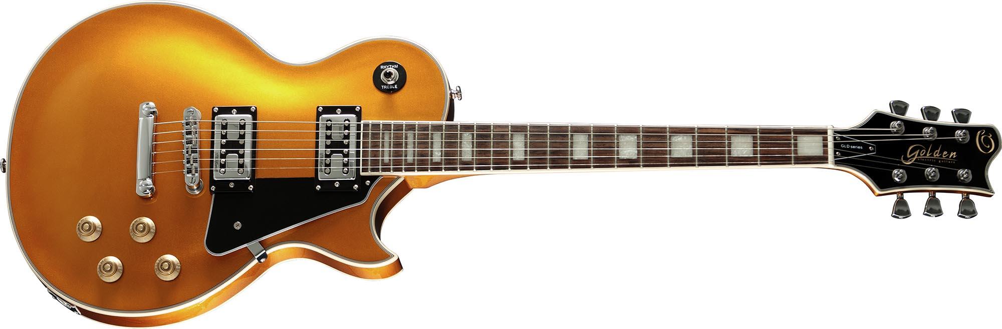 gld152c guitarra eletrica les paul golden gld152c gld goldtop dourada visao frontal