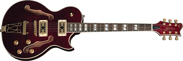 gsh570 guitarra eletrica les paul hollow body golden gsh570 trwn vinho 600