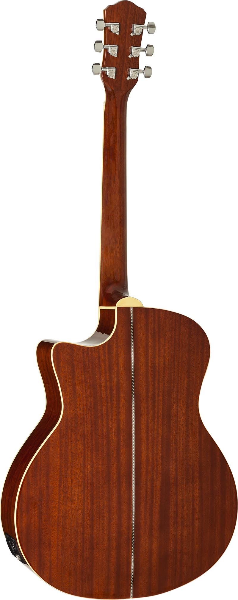 hma260 violao folk auditorium hofma hma260 sb sunburst visao posterior vertical