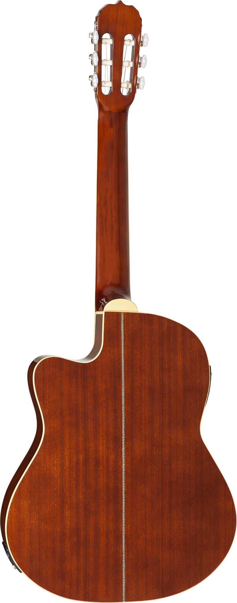 hmc225 violao classico flat hofma hmc225 nt natural visao posterior vertical