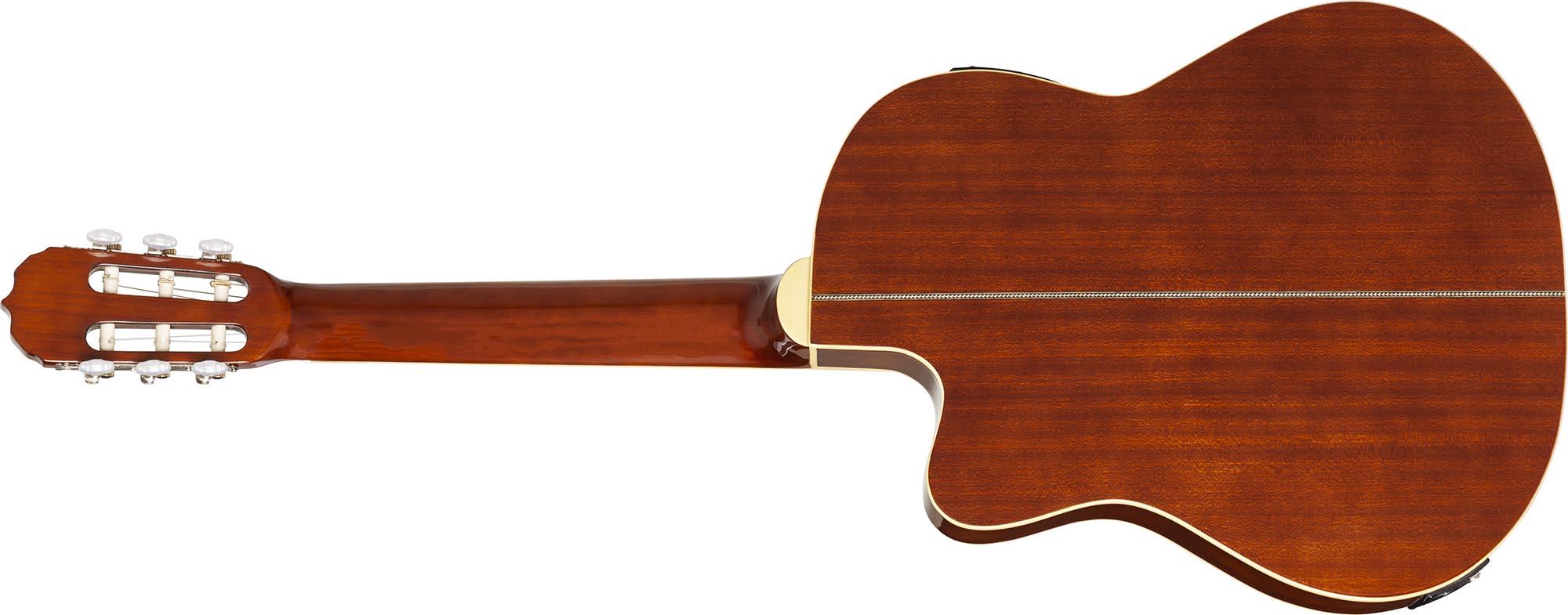 hmc225 violao classico flat hofma hmc225 nt natural visao posterior