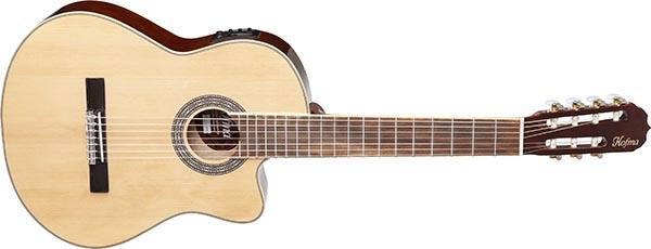 hmc227 violao classico 7 cordas hofma hmc227 nt natural 600