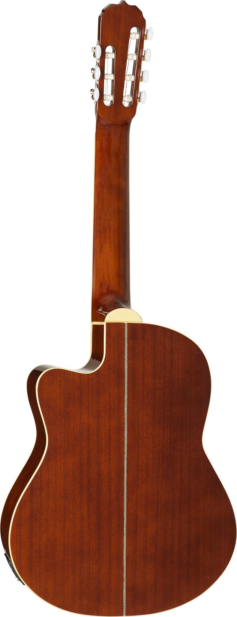 hmc227 violao classico 7 cordas hofma hmc227 nt natural visao posterior vertical