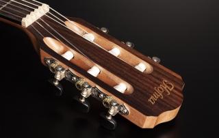 hmn288 violao mini jumbo flat cordas nailon hofma hmn288 stnt natural acetinado detalhe 01