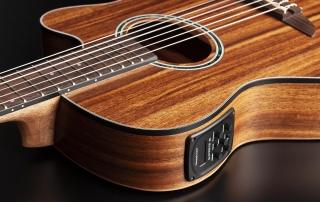 hmn288 violao mini jumbo flat cordas nailon hofma hmn288 stnt natural acetinado detalhe 03