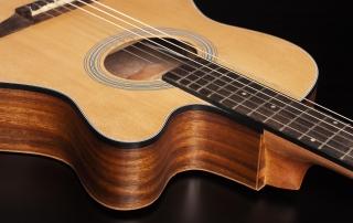 hmn298 violao mini jumbo flat cordas nailon hofma hmn298 stnt natural acetinado detalhe 01