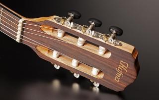 hmn298 violao mini jumbo flat cordas nailon hofma hmn298 stnt natural acetinado detalhe 03