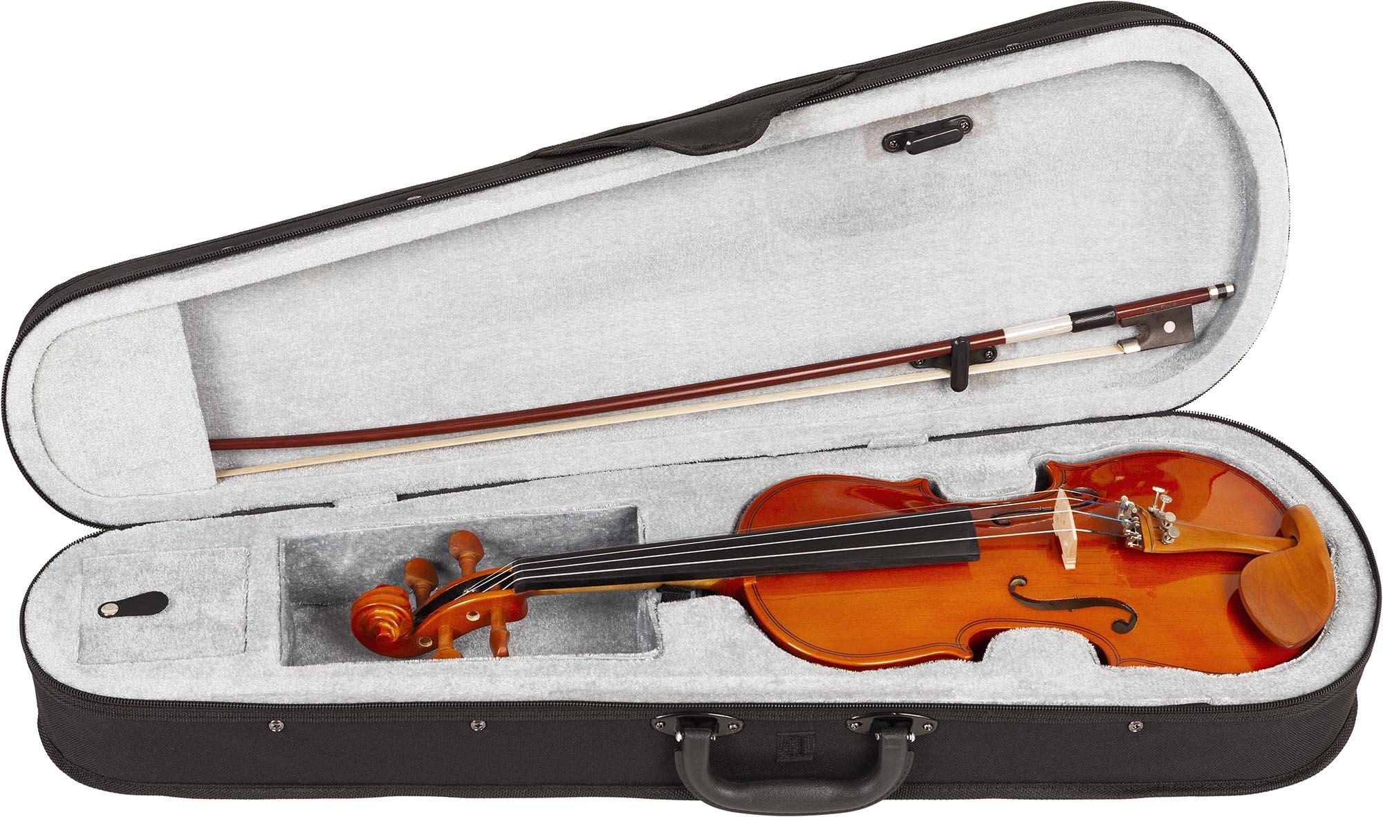 hve241 violino hofma hve241 estojo aberto