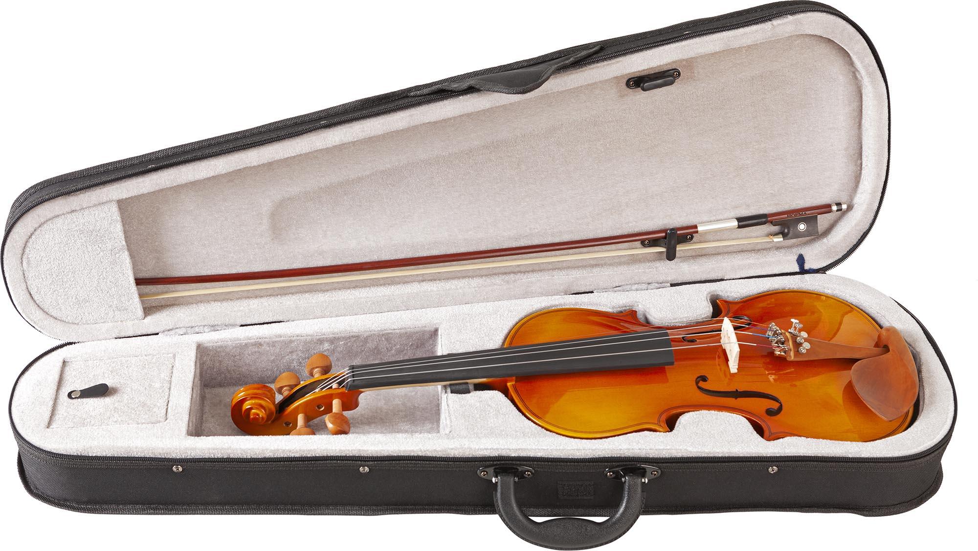hve242 violino hofma estojo aberto