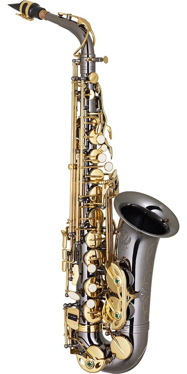 sa500 saxofone alto eagle sa500 bg onix dourado frontal
