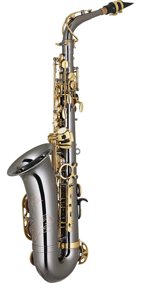 sa500 saxofone alto eagle sa500 bg onix dourado posterior