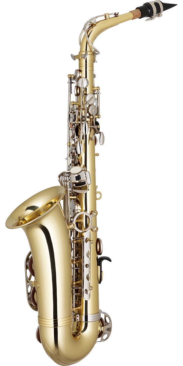 sa500 saxofone alto eagle sa500 ln laqueado dourado chaves niqueladas posterior