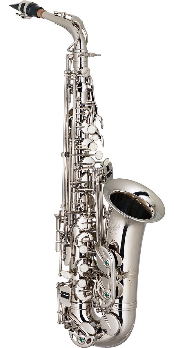 sa500 saxofone alto eagle sa500 n niquelado frontal